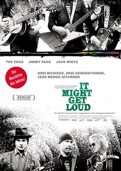 Poster zu It Might Get Loud - via filmposter-archiv.de